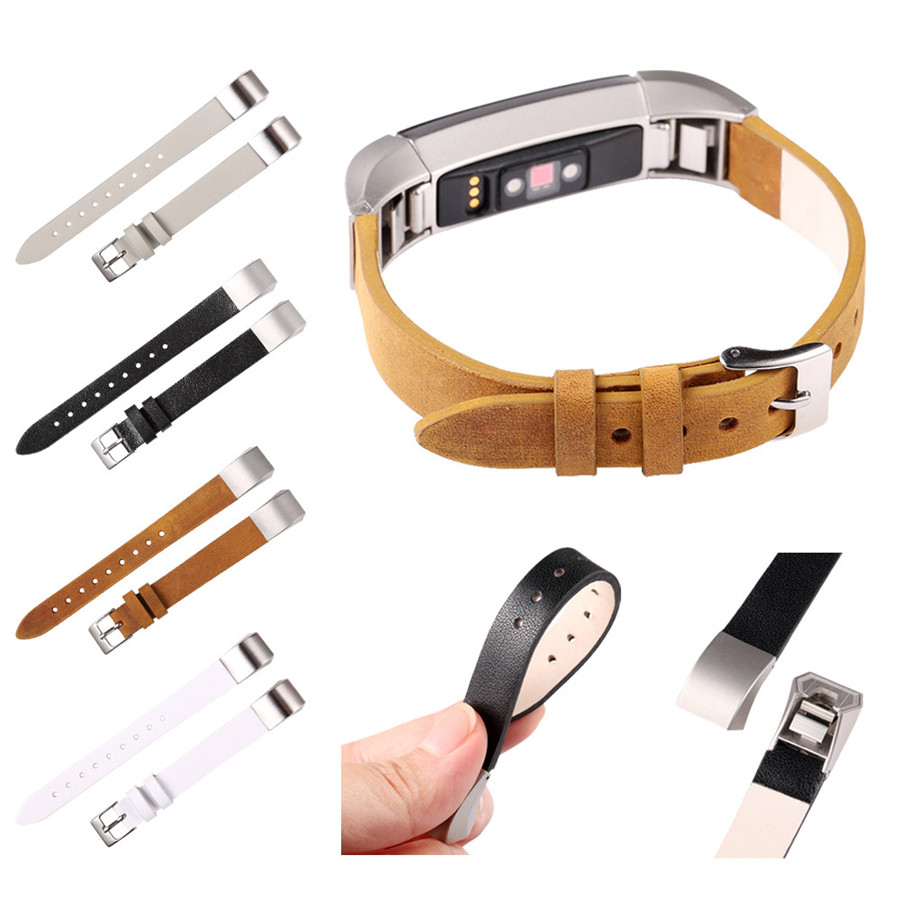LANDFOX New Luxury Leather Band Bracelet Watch Band For Fitbit Alta/Fitbit Alta HR Contracted design style