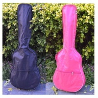Free Shipping 30 Inches Guitar Bag 30inch Black And Red Double Shoulders Children Guitar Bag