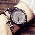 Simulación De Madera Relojes de Cuarzo Relojes Casual Correa de Cuero Del Reloj De Madera de Color De Madera de las mujeres Masculinas Reloj Relogio masculino