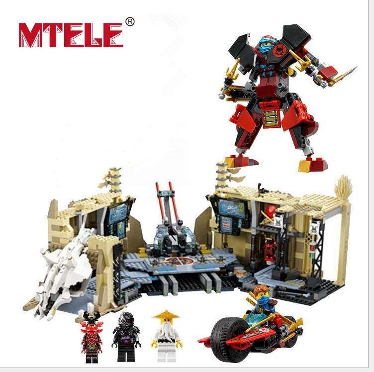 MTELE 1351 Pcs Phantom Ninja Samurai X Cave Chaos Model Building Figure Blocks Bricks Toy Lepin 06039 Compatible With Lego 70596 цена и фото