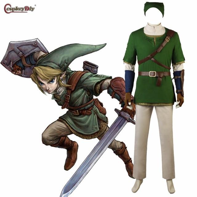 cosplaydiy the legend of zelda twilight princess link cosplay costume adult men halloween costumes outfit