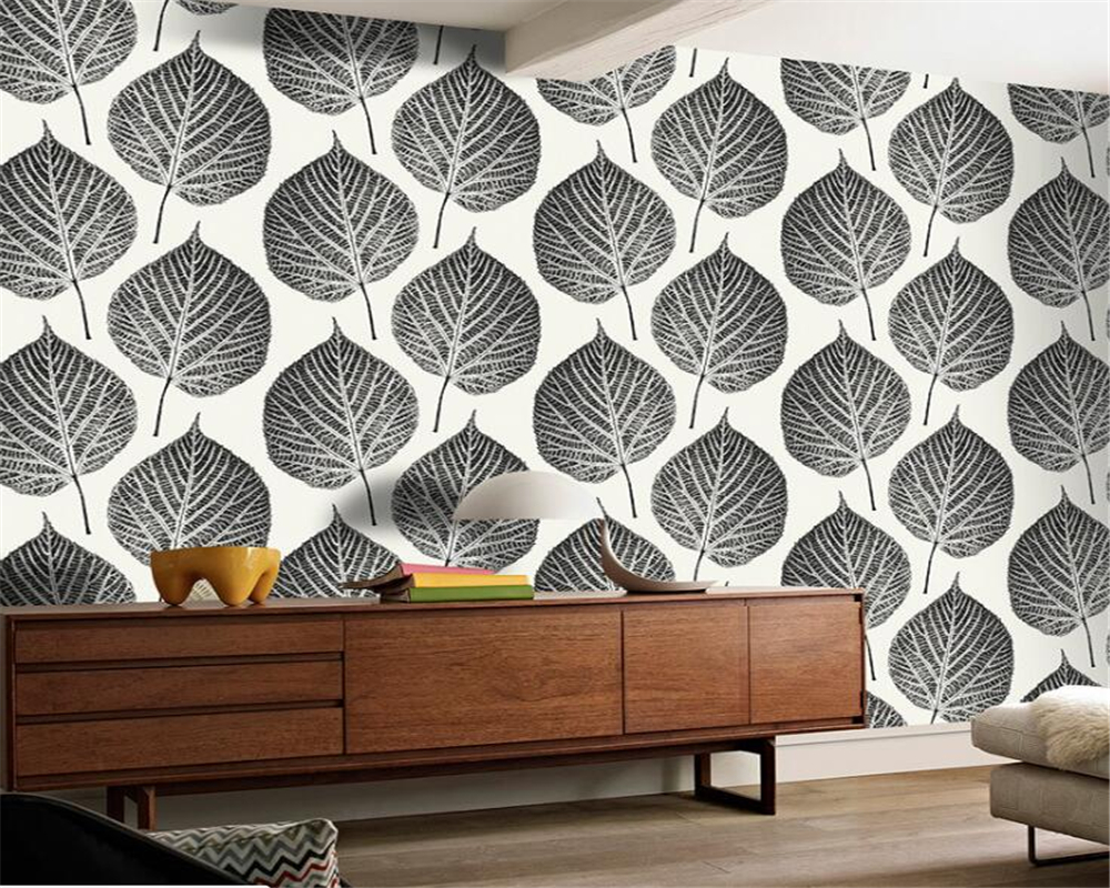 Beibehang Nordic Modern Blue Leaf Resin Wallpaper Living Room Bedroom TV Wallpaper Luxurious Home Decorative 3d Wallpaper Roll beibehang modern bedroom background wallpaper 3d living room tv wallpaper plain pearl white shallow khaki 3d wallpaper roll