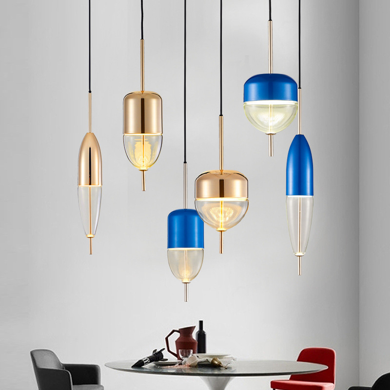 Nordic Post Modern Creative Drop Design Lamp Glass Pendant Light Restaurant Pendant Lamp for Bar Cafe Bedroom Dining Room nordic post modern denmark creative chandelier art crown bar coffee shop decoration light dining lights