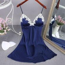 Женская сексуальная ночная рубашка, летнее женское нижнее белье, халат, банное платье из искусственного шелка, ночная рубашка, пижама, домашняя одежда, ночная рубашка