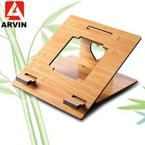 Image 1 - Arvin 인체 공학적 노트북 스탠드 macbook pro 접이식 냉각 노트북 홀더 조정 가능한 휴대용 pc 스탠드 lapdesk suporte notebook