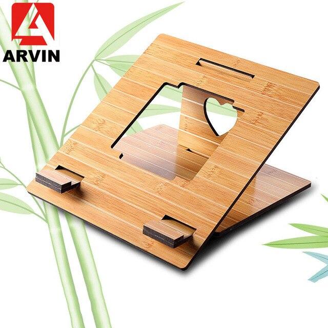 Arvin 인체 공학적 노트북 스탠드 macbook pro 접이식 냉각 노트북 홀더 조정 가능한 휴대용 pc 스탠드 lapdesk suporte notebook