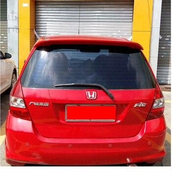 Voor Honda Jazz Fit Spoiler Hoge Kwaliteit ABS Materiaal Auto Achtervleugel Primer Kleur Spoiler Voor Honda Fit Spoiler 2004-2007