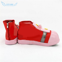 Sonic Boom Amy Rose Cosplay Shoes Boots Professional Handmade ! Perfect Custom for You !