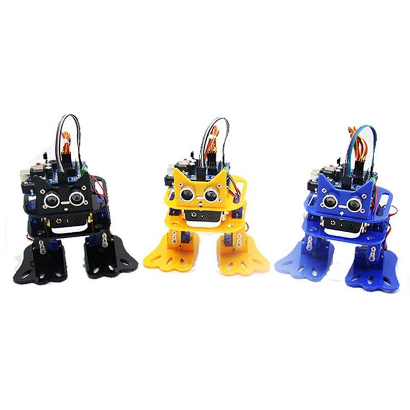 LOBOT DIY 4DOF Walking RC Robot Mixly Graphical Programming bluetooth Control Smart Robot Toy Kid Gifts