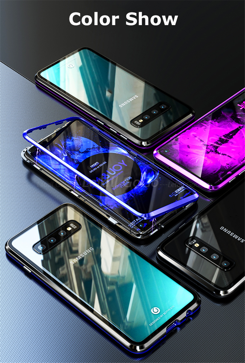 Metal flip Samsung Galaxy s10 Plus Case