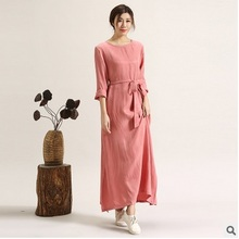 New products listed in the spring of 2016,  the original design of high-end loose big yards of  silk   women dress