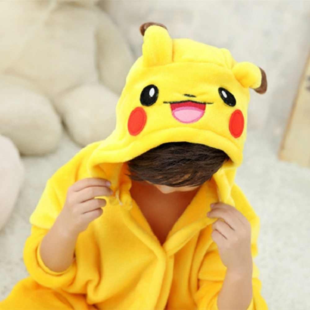 Pijama de flanela para crianças, pijamas unissex de flanela com animais desenhos animados, para bebês, 4, 6, 8, 10, 12 anos sleepwear roupa de dormir