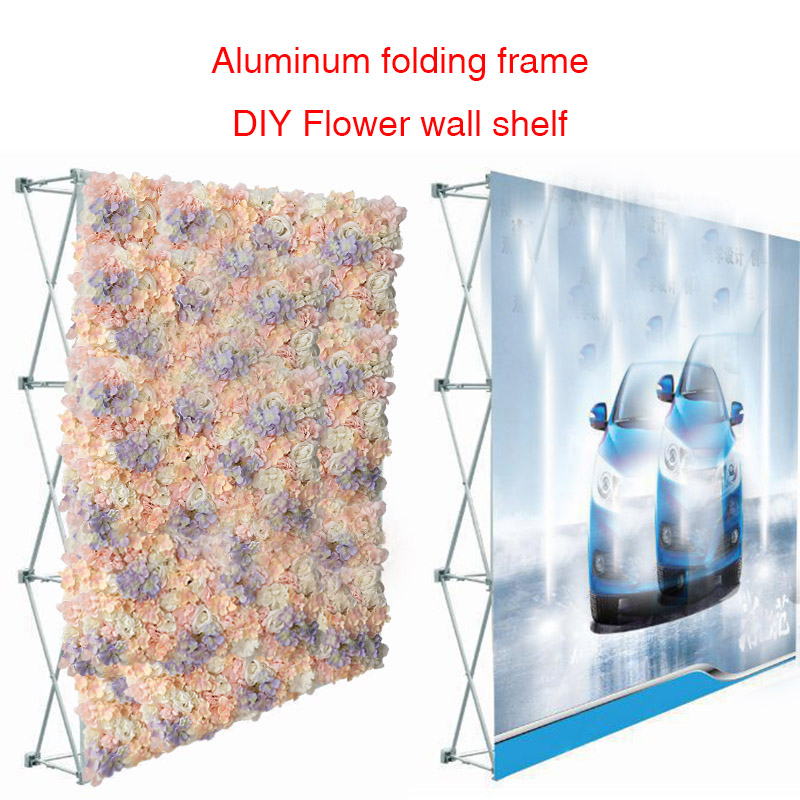 Wedding Flower Wall Shelf Advertising Display Stand Aluminum Folding Shelf Party Supplies Show Background Wall photography propsWedding Flower Wall Shelf Advertising Display Stand Aluminum Folding Shelf Party Supplies Show Background Wall photography props