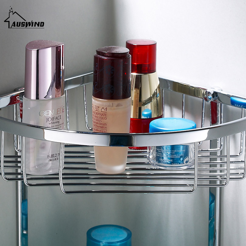 Bathroom shelves 2 layer 304 stainless steel shower corner - Bathroom shelves stainless steel ...