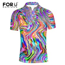 FORUDESIGNS Super Fashion Men POLO Shirt bright-colored clothes  Homme Slim Fit Short-sleeve Male Camisa Brand Clothing