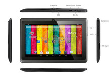 Tableta de 7 pulgadas grande altavoz tablet pc Q8H Allwinner Android 4.4 Dual core/Cámara Bluetooth 512 MB/4 GB 2800 mAh wifi linterna