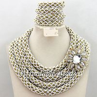 Gorgeous African Fashion Jewelry Sets Marvelous Wedding Jewelry Set Handmade Design Wholesale Free Shipping BN302
