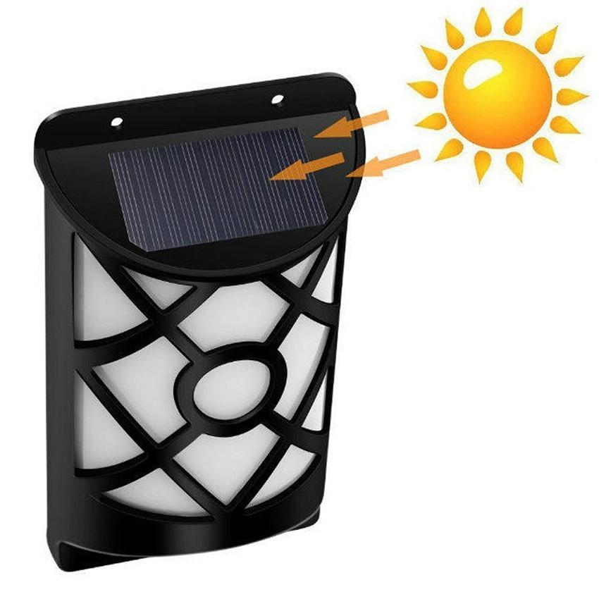 66 Chama Bruxuleante Luz de Parede À Prova D' Água Movido A Energia Solar LED Âmbar Pátio Porch Lâmpada de parede Solar para Cerca