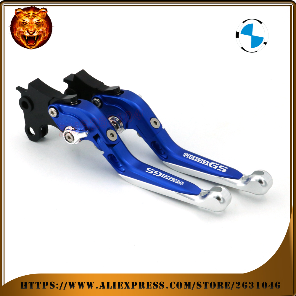 Motorcycle Adjustable Folding Extendable Brake Clutch Lever For BMW R1200GS ADVENTURE 1200 GS R1200 1200gs 2014-2017 free shipp adjustable folding extendable brake clutch levers for bmw k1300 s r gt k1600 gt gtl k1200r sport r1200gs adventure 8 colors