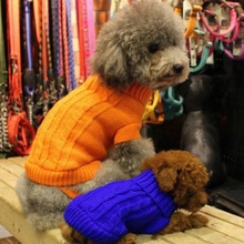Свитеры для домашних животных зимняя одежда костюмы свитер Кошка и одежда для собак джемпер с капюшоном Pet куртка для щенка AB