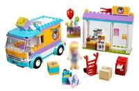 Legoing Hediye dağıtım dükkanı araba 41310 188 Yapı Blcok için set Tuğla uyumlu 10608 Oyuncaklar çocuk Hediye