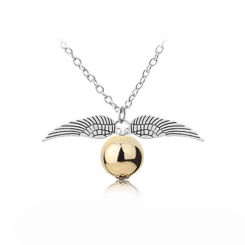 Octbyna классический ретро стиль Ha Po винтажная Детская Подвеска-ожерелье золотые цепи снитч ожерелье для мужчин подарок ювелирные изделия