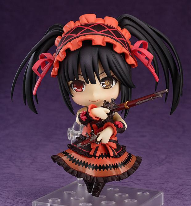 Huong Anime Figure 10 CM Cute Nendoroid Date A Live Tokisaki Kurumi Doll #466 PVC Action Figure Collection Model Toy 10cm japanese anime figure j g chen retail wholesale anime cute nendoroid 4 date a live yoshino action figure collection model