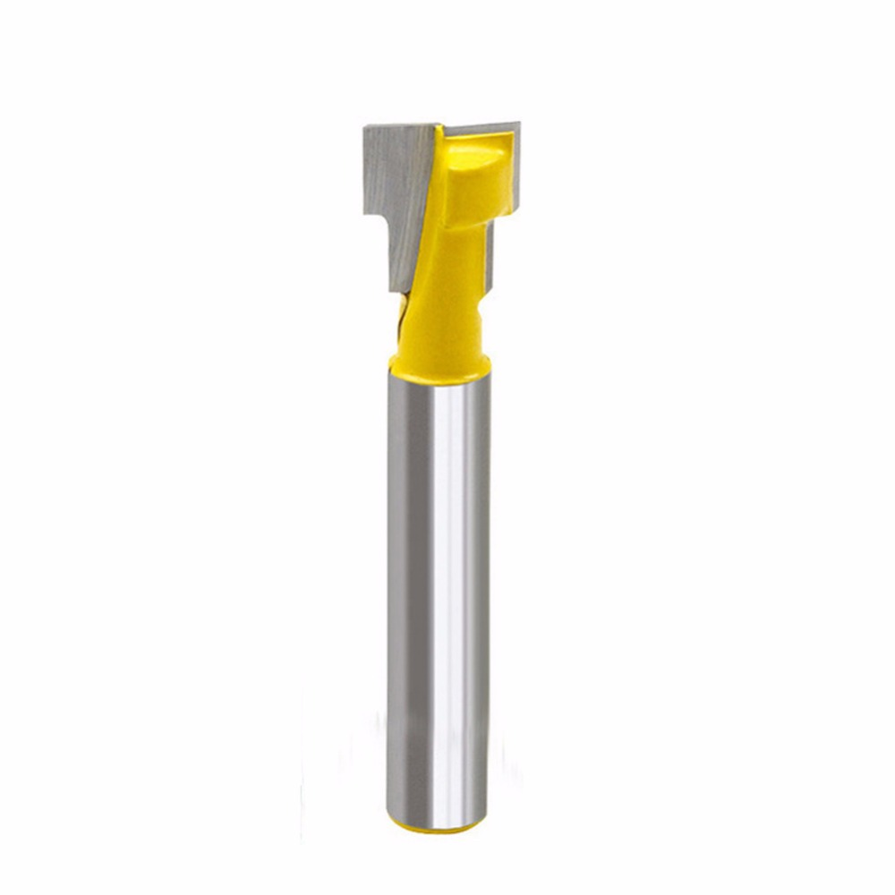 3/8'' T-Slot Cutter 1/4'' Shank Steel Handle Milling Woodworking Router Bit New 2pcs milling cutters 3 8 t slot cutter 1 4 shank steel handle milling woodworking router bit yellow blue cutters for wood