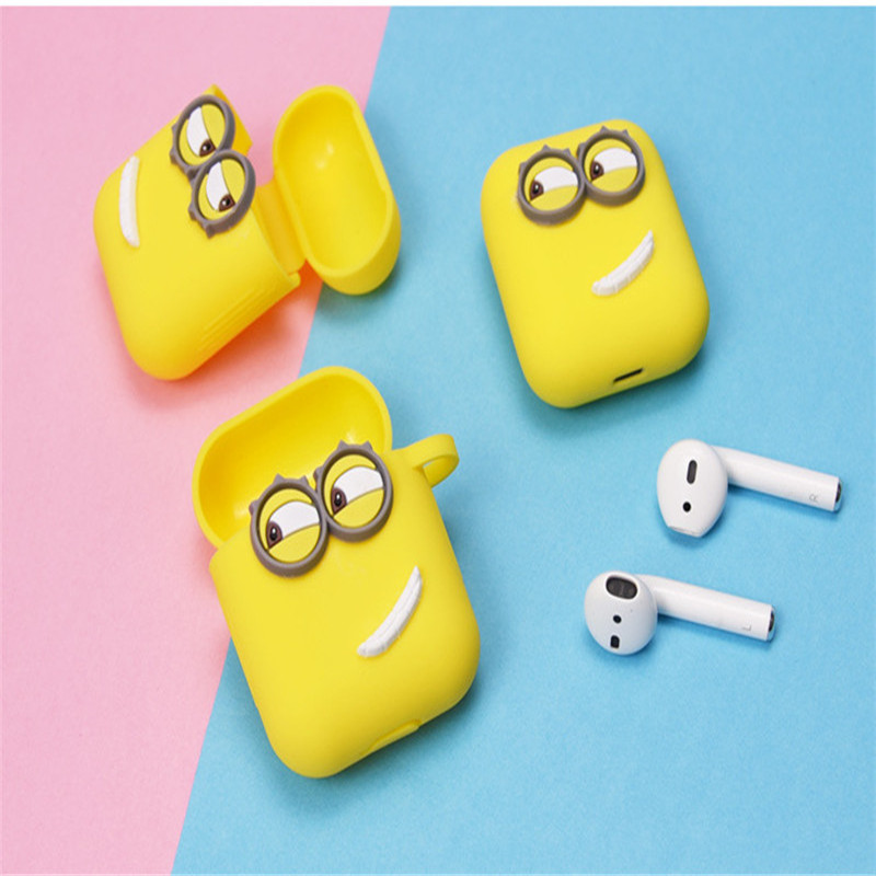 Soft Silicone Case Earphones Little Yellow Man Bluetooth