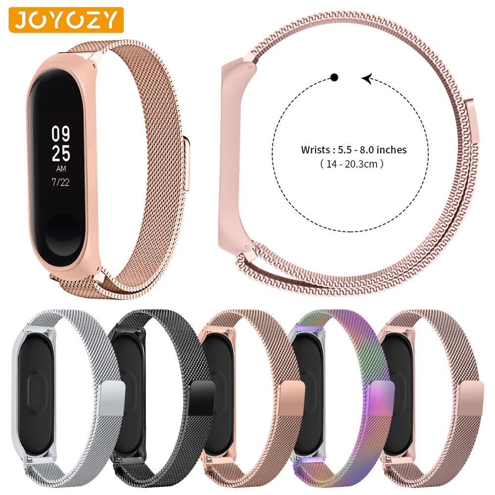 Joyozy 2019 New Lightweight Stainless Steel For Band Xiaomi Wristband Strap Smart Wrist Watch Strap For Xiaomi Miband 3 Bracelet