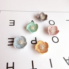 Japan and South Korea, small fresh flowers, DIY materials, handmade jewelry, earrings accessories, 6 pieces.