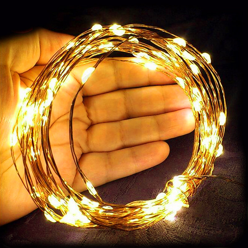 Christmas Lights 10m 5m LED String Light USB Waterproof Fairy Lights For Party Wedding Holiday LED Lights Decoration Garland 2 5m 10leds ghost led string lights halloween decoration