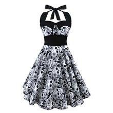 7e1a258669 2017 Lato Nowy S-5XL Plus Size Sukienka Kobiety Punk Bez Ramiączek Halter Party  Sukienki