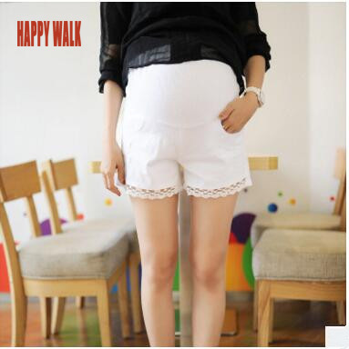 Summer New Style Lace Maternity Shorts Belly Denim Shorts For Pregnancy High Quality Plus Size Casual Pants For Pregnant Women