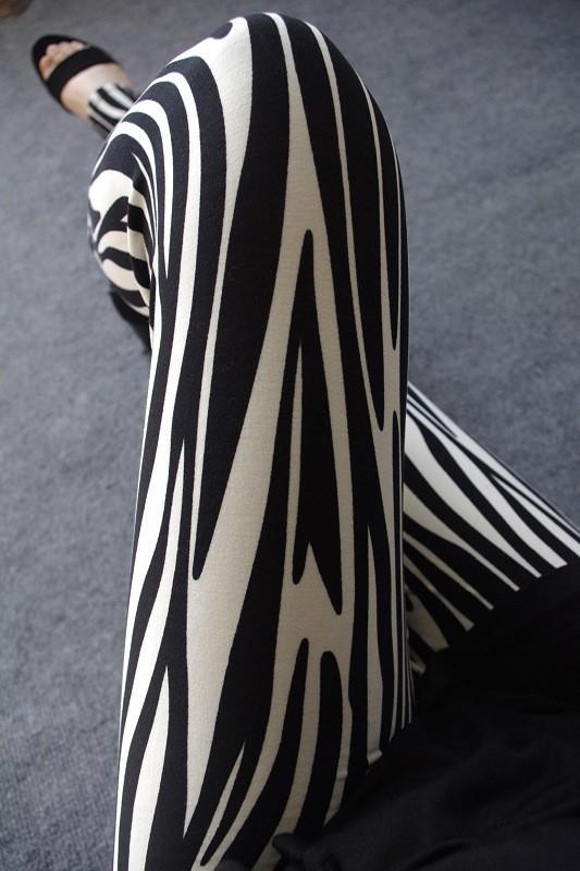 BIVIGAOS Spring Summer Womens Fashion Black Milk Thin Stretch leggings Colored Stars Graffiti Slim Skinny Leggings Pants Female 12