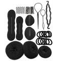 8 in1/Set Headwear Disk Donuts Dish Hair Hairdressing Tools For Women Girls Hair Accessories Braid Tool Hair Ties