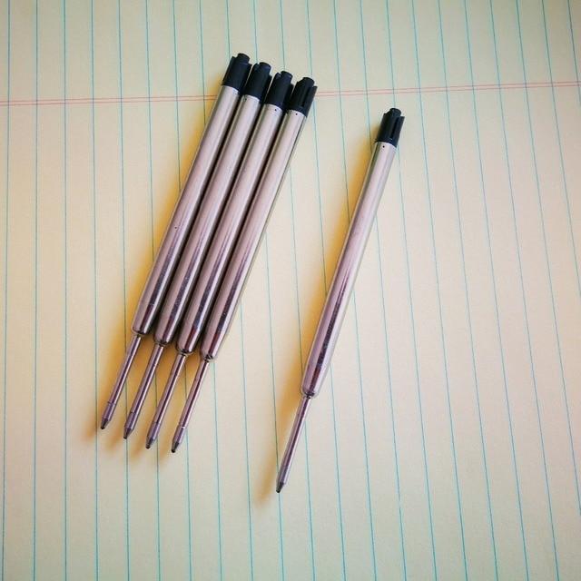 5pcs/lot Ballpoint Pen Refill 0.7MM Blue Black Ink Roller Ball Refills for Writing Office School Supples 5