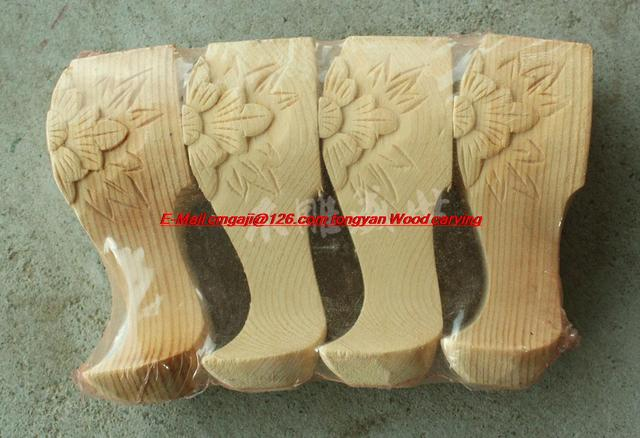 Solid wood furniture Zhangmu Xiang decorative accessories feet foot foot pedestal supporting material furniture feet