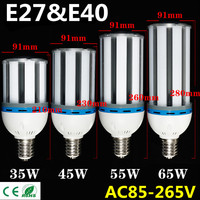 High Brightness E27 E40 35W 45W 55W 65W SMD5730 LED Cylinde Corn Bulb 85 265V Cool