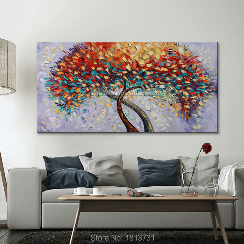 Handmade Oil Painting Palette Knife Flower Oil Painting On Canvas - Home Decor