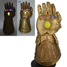 Avengers Endgame Thanos Infinity Gauntlet Retro Color PVC Cosplay Costumes Accessories 1:1 Active Figurine Garage Kits LED(China)