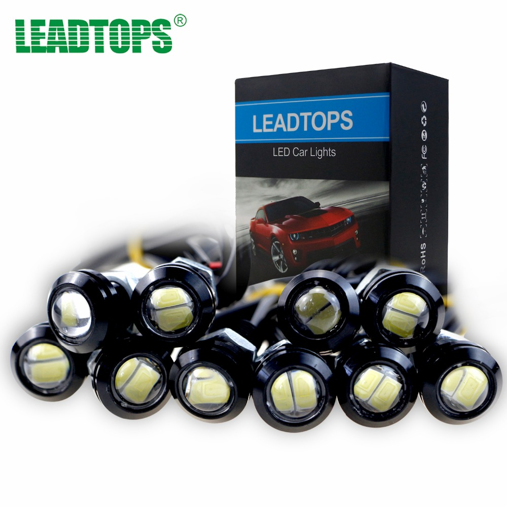 Leadtops 6pcs Car Styling 18mm Led Eagle Eye Drl Daytime Running Lights Source Parking Lamps Drl