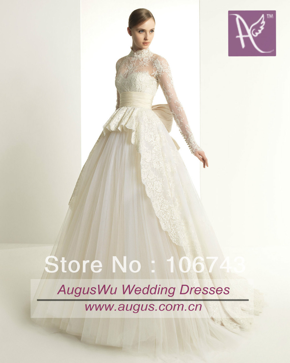 kurtis free shipping 2018 bow sashes New Custom Long Sleeves Ivory Lace Tulle bridal gown mother of the bride dresses