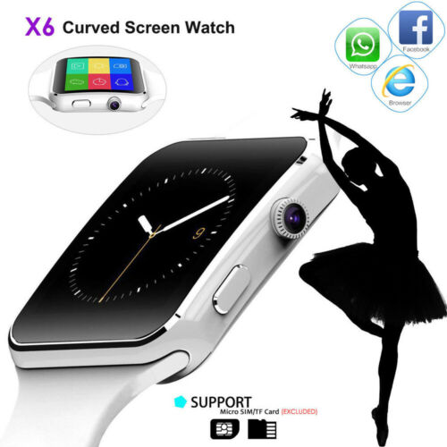 Fashion Watches Curved Screen Bluetooth Smartwatch TF SIM Camera Men Women Smart Watch for Android IOS in Smart Watches from Consumer Electronics