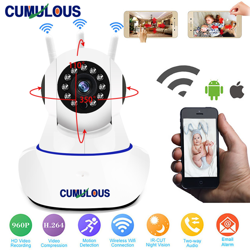 CUMULOUS Home Security IP Camera Wireless Full HD 1080P Network CCTV Camera Smart Wi-Fi P2P Two-Way Audio Record Surveillance nikon d5600 dslr camera 24 2mp full hd 1080p wi fi bluetooth 2016 new release