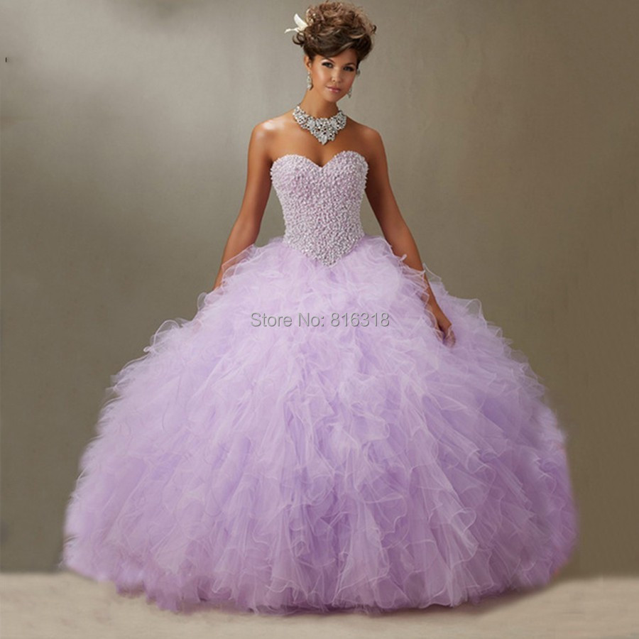 b0fc0c513e1 Lavender Quinceanera Dresses 2016 Pageant Gowns Pearl Beaded sweet 16 dresses  coral quinceanera dresses