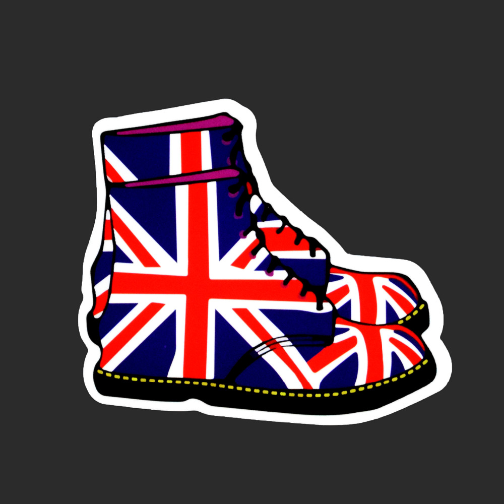 National Flag Shoes Fashion Tied Brand Single Sexy Sticker Car Styling Waterproof Funny Stickers Luggage Skateboard Decals