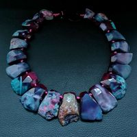 18'' 18x31MM Top Drille Mixed Color Stone Necklace