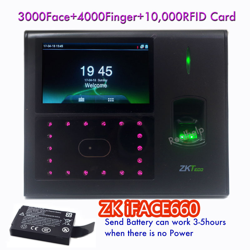 3000 Face Capacity Open Door Acces Control Face Biometric Technology Facial IDcard Fingerprint Attendance System Zkteco Iface660