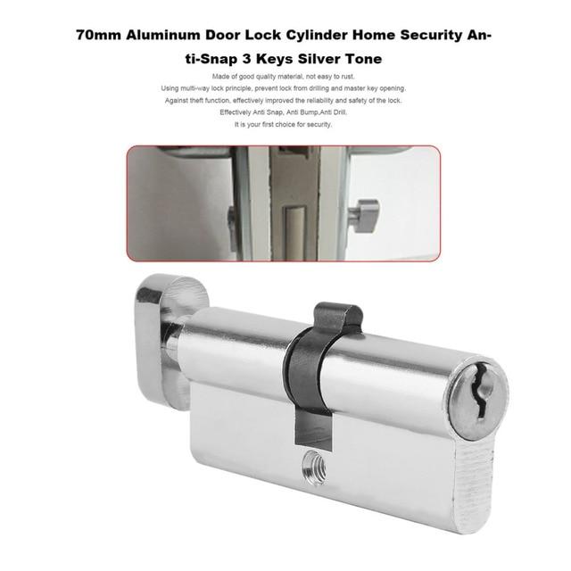 Ordinaire 2018 New 70mm Aluminum Metal Door Lock Cylinder Home Security Anti Snap  Anti Drill